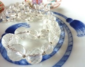 Vintage 1930's  Art Deco Necklace -Vintage Crystal necklace - Sparkling crystal - - Vintage necklace - Wedding jewellery - Bridal Jewellery
