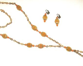 Orange I Pretty?? Mid-Century Classic Necklace Set