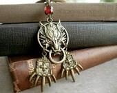 Direwolf Necklace, GOT Inspired Necklace