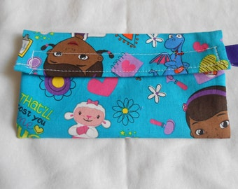 Blue Doc McStuffins Reusable Snack Bag