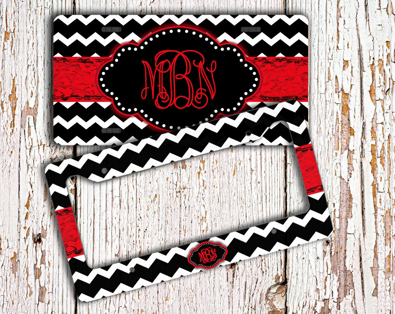 Cute License Plate Or Frame Monogram Car By Togildthelily