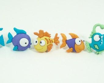 Fish  Push Pins or Magnets