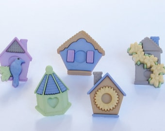 Bird House Push Pins or Magnets