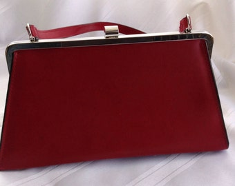 Red Leather Vintage Purse