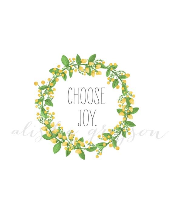 Items similar to Choose Joy Printable on Etsy