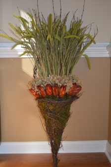 Dried Floral Arrangement Dried Hydrangea Grapevine Wall Basket Wall Decor Rustic Floral