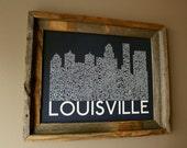 Louisville Skyline Word Art Print (Dark Blue)