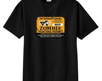 International Zombie Hunting Permit New T Shirt, Plus Sizes S M L XL 2X 3X 4X 5X
