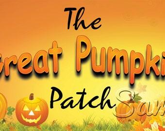 Pumpkin Patch Banner Halloween