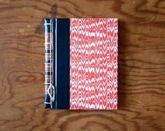 red vintage handmade journal // hard bound journal