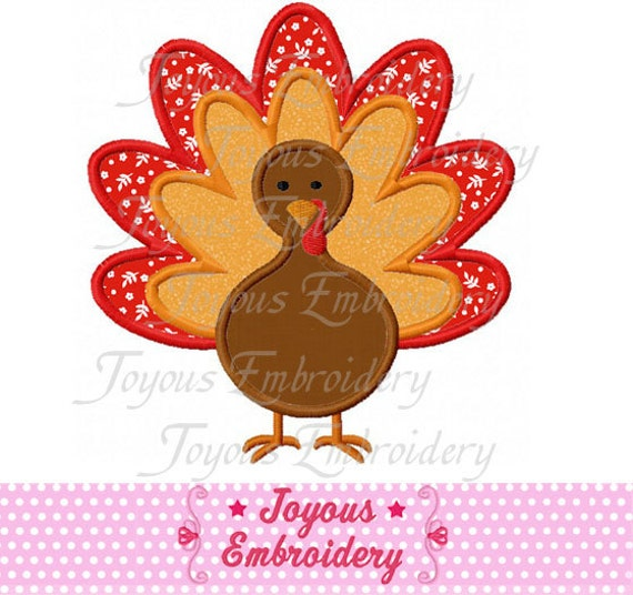 Thanksgiving turkey applique machine by joyousembroidery
