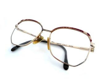 Vintage Sferoflex Luxottica Eyeglasses Frames - Oversized Unisex Lunettes- 1980s