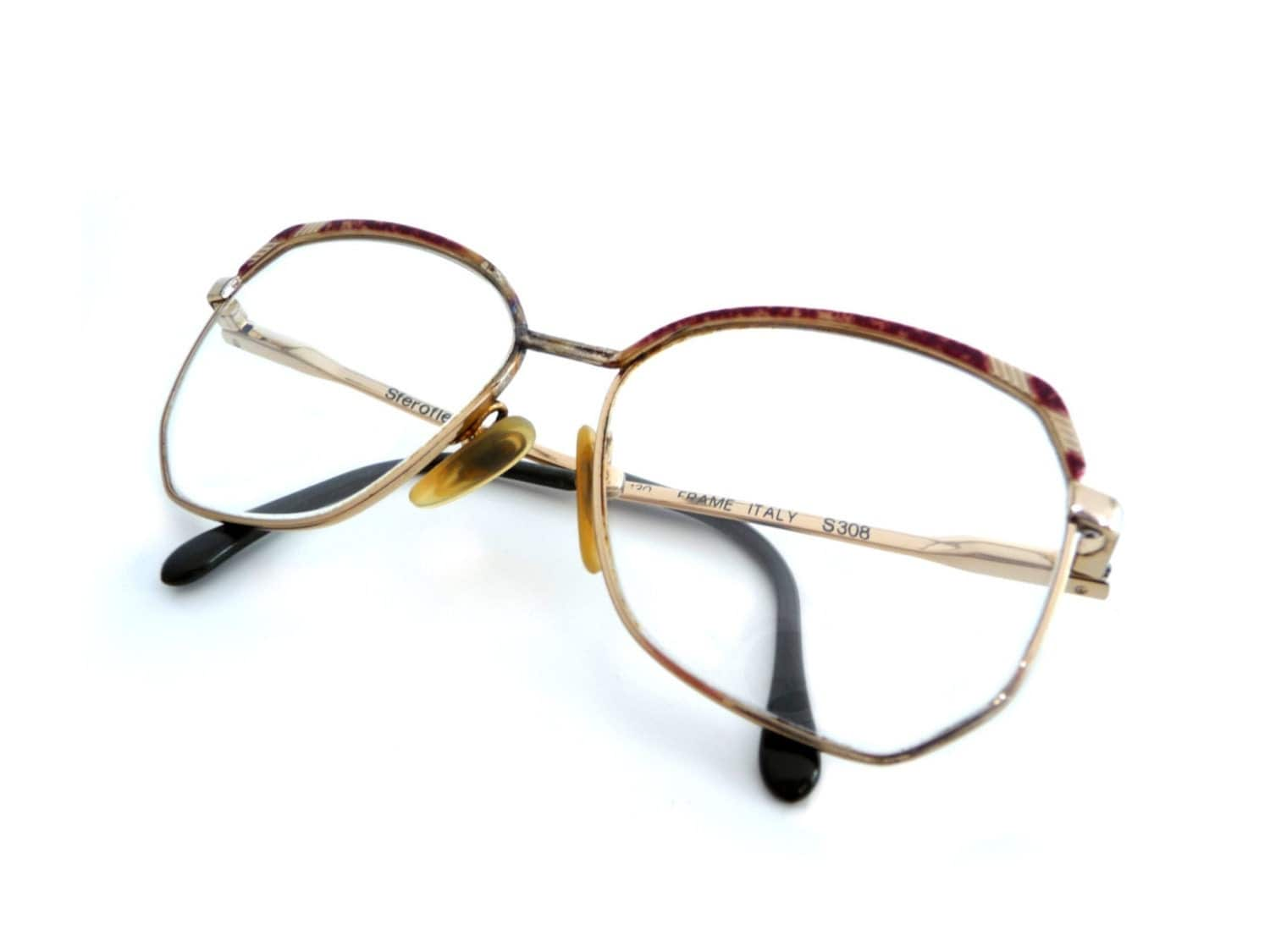Glasses Frames Not Owned By Luxottica : Vintage Sferoflex Luxottica Eyeglasses Frames by madlyvintage
