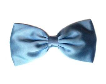 "Pale Blue Satin ""Cinderella Inspired"" Hair Bow"