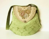 "Medieval Victorian Boho Romantic Bag Purse ""Ailean"" Brocade Velvet Marie Antoinette Green Hippie Renaissance Fairy Nostalgic Gothic Spring"
