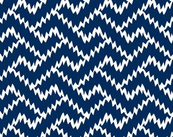 Zig Zag Navy - Fabric by the Yard