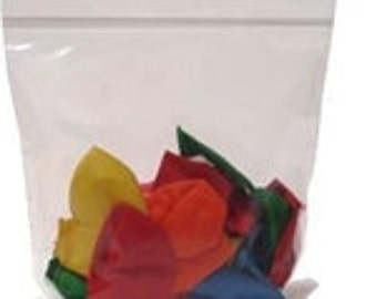 100 9x12 2Mil Clear ZipLock Poly Bags