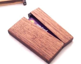 Wooden Business card holder or credit card holder wood case for business cards handmade wood case