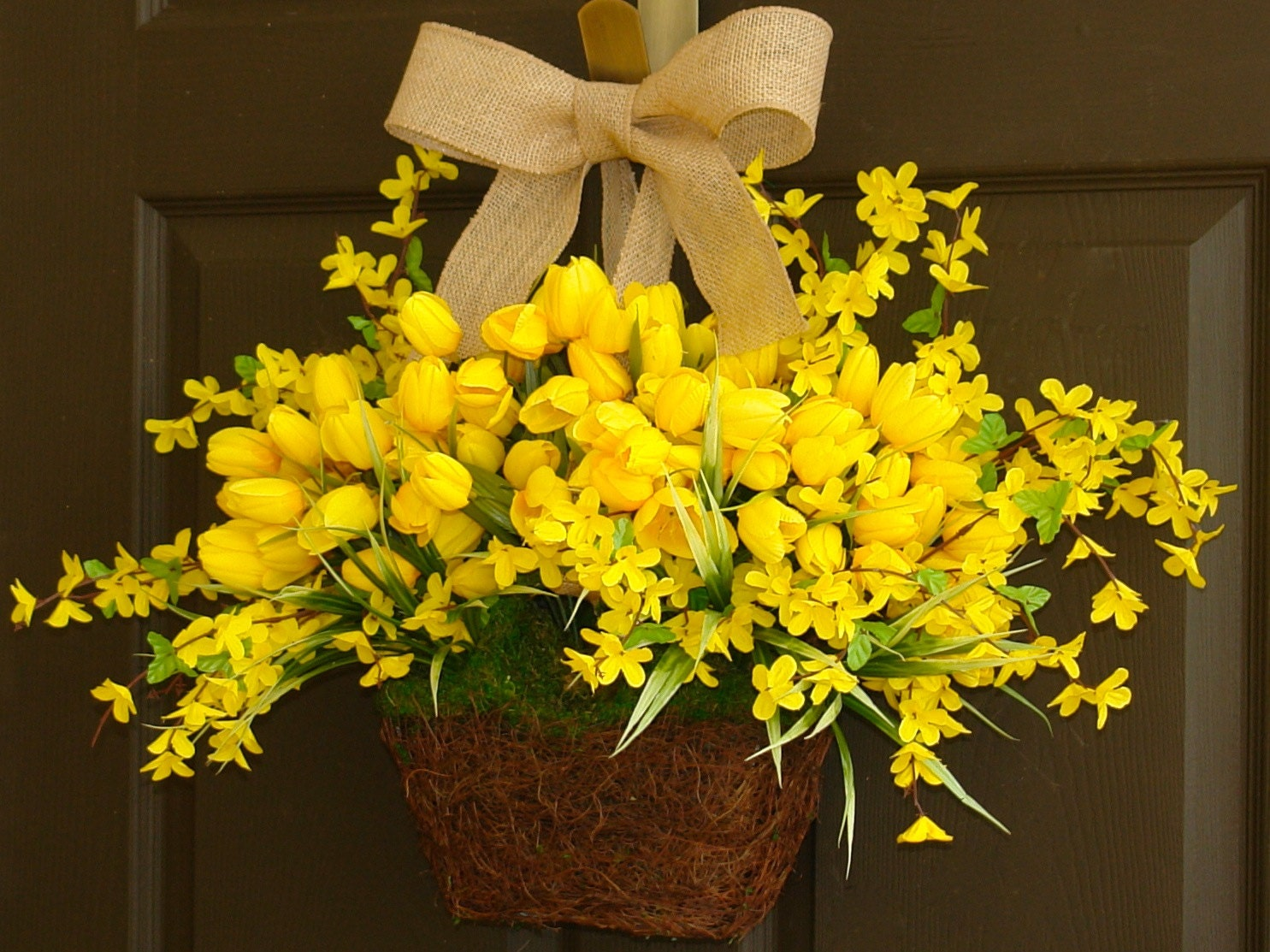 Spring Wreath Summer Wreath Tulip Wreaths For Front By