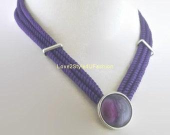 Choker, Choker Necklace, Beaded Choker, Purple Choker, Silver Choker, Velvet Choker, Choker Necklace For Women