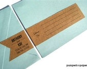personalized wraparound address labels - banner style - set of 12