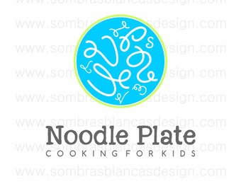 OOAK Premade Logo Design - Noodle Plate - Perfect for a children education site