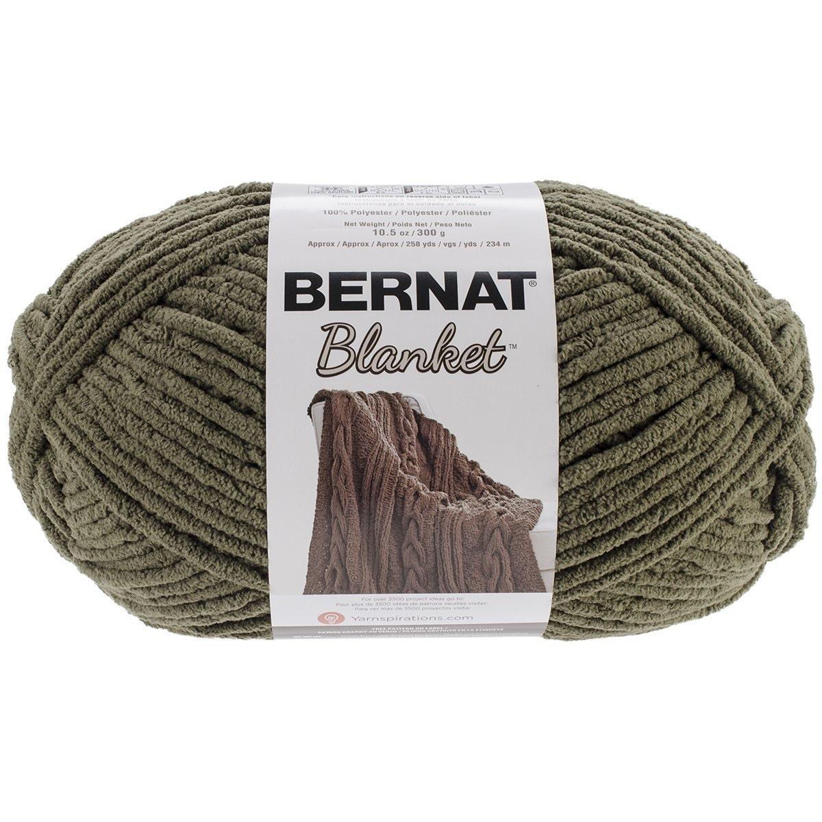 Bernat Big Blanket Yarn In Olive Large Skein 300 Grams New