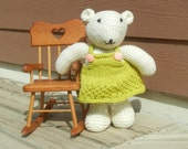 Hand Knit Bear, Teddy Bear, Toy with Clothes, Ready to Ship