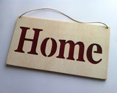 Home cartel personalized wood sign
