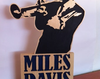 Miles Davis Wooden sculpture figure
