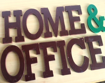 Aged wooden letters personalized 1.0