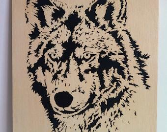 Wolf wooden scroll saw woodwork
