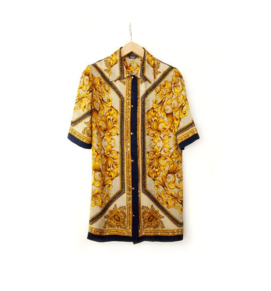 vintage versace couture shirt authentic by