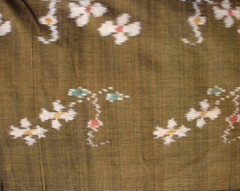 Vintage Silk Ikat Fabric Yardage Thailand Sewing Crafts Quilt Home Decor