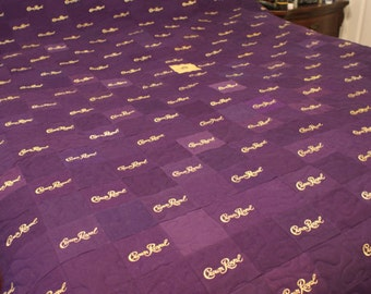 Crown Royal Quilt Custom Made to Order Crown Royal Quilt, Couch Throw, Man Cave Quilt, Lap Throw, Lap Quilt (You pick the size and pattern)