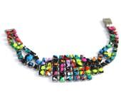 Vintage Splatter Graffiti Bracelet
