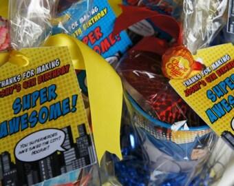 Superhero Bag Tags PRINTED
