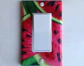 Watermelon Single Rocker GFI Switchplate, decor