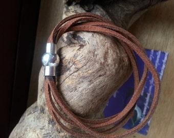 Leather Bracelet Wrap brown Bracelet Men's Gift Ideas