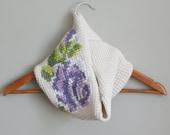 "DIY Tunisian Crochet PATTERN - Cotton Rose Bloom Cowl (8"" x 24"" circumference) (tunisian005)"