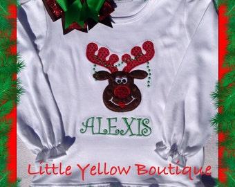 Christmas reindeer long sleeved tshirt.