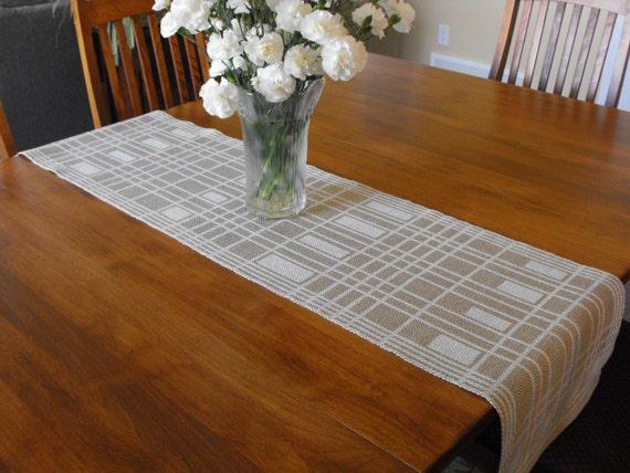 Tavolo bianco tortora runner runner lino cotone tavolo da - Runner per tavolo ...