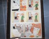 La fumée : original framed watercolor