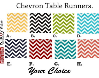 Chevron Table Runner-Zigzag Table Runner.Chevron Table  Cloth.****Table Runners, Placemats and Napkins Available in Many Sizes and Colors