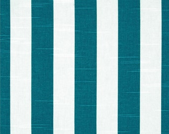 Blue Table Runner-Turquoise Striped TABLERUNNER , PLACEMAT or NAPKIN .
