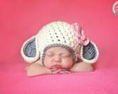 Sweet Little Lamb, Lamb Hat, Lamb Beanie, Lamb Ears, Farm Animal, Baby Animal, Little Bo Peep, Crochet Lamb Hat, Crochet Lamb Beanie