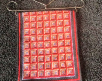 Mini Amish Quilt Wall Hanging