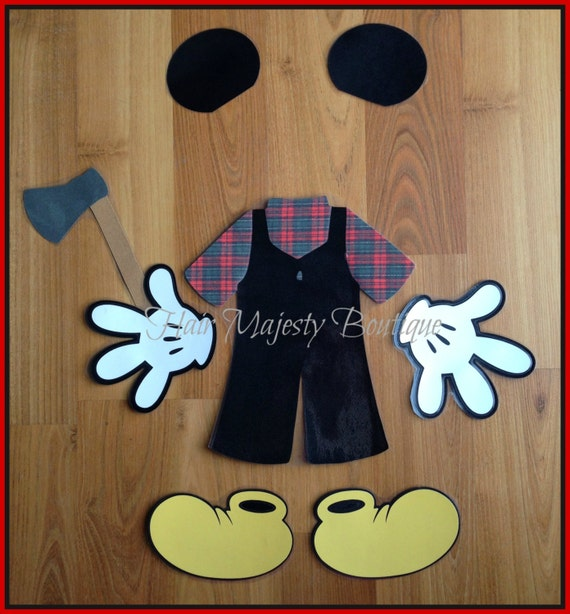 Mickey Mouse Alaska Lumberjack Body Part By