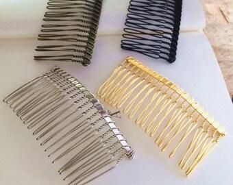 20Teeth Assorted Colors  Metal  Hair Combs  10PCS