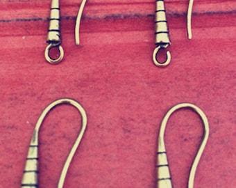 10pcs 20x7mm  Bronze  ear hook